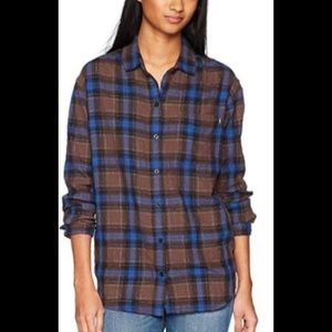 Obey flannel top XS
